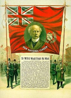 Laurier Liberals - Image: Affiche électorale de Wilfrid Laurier