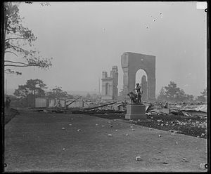 Royal Botanic Garden, Sydney - After the fire - The Garden Palace