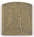 Aide et Protection aux Oeuvres de l'Enfance (Colonies d'Enfants Débiles), plaquette by Pierre Theunis, Belgium, (1919), Coins and Medals Department of the Royal Library of Belgium, 2Lef88-89 (recto).jpg