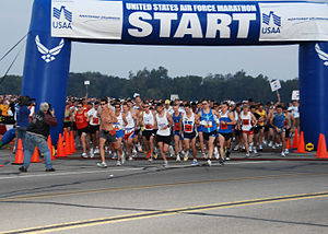 United States Air Force Marathon - Start of the 12th annual Air Force Marathon