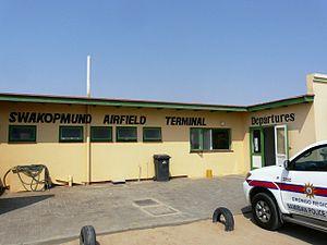 Swakopmund Airport - Image: Airfield Swakop 28.08.2010 001
