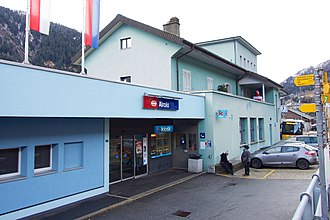 Airolo railway station - Image: Airolo FFS station building