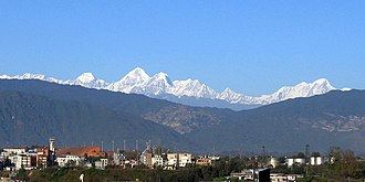 Kathmandu Valley - Mountain view from Kathmandu Valley