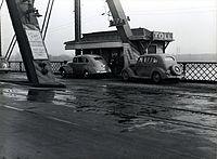 Ak-Sar-Ben Bridge toll booth in 1938.