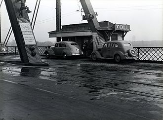 Knights of Ak-Sar-Ben - Ak-sar-ben Toll Bridge between Iowa and Nebraska in November 1938