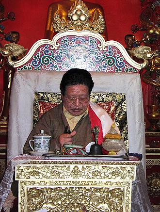 Akong Rinpoche - Image: Akong Tulku Rinpoche throne