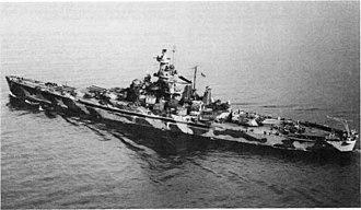 USS Alabama (BB-60) - Alabama (BB-60), 1 December 1942, in camouflage.