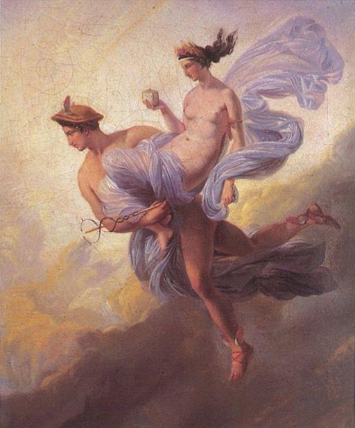 Alaux, Jean - Pandora carried off by Mercury