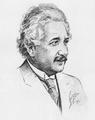 Albert Einstein sketch 1931.png