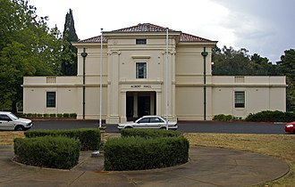 Albert Hall, Canberra - Front view of the Albert Hall