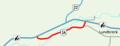 Alberta Highway 3A Lundbreck Map.png