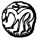 symbol found on the sceat coins of King Aldfrith of Northumbria