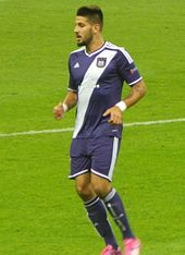Mitrovic Playing For Anderlecht In