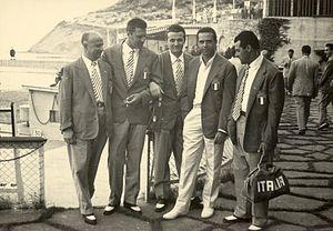 1955 Mediterranean Games - Italian skeet shooting team at the 1955 Mediterranean Games