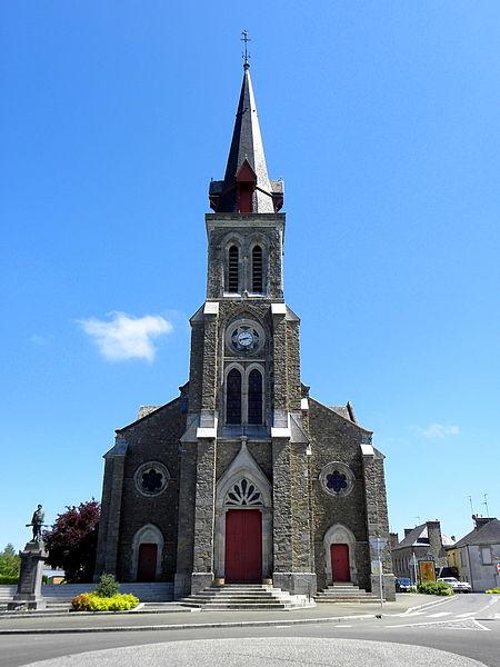 Église Notre-Dame de l'Assomption d'Alexain (53). Architecte: Lemesle. Construction: 1862-1864.