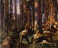 Alfred Munnings - Felling a Tree in the Vosges.jpg