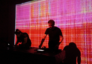 Algorave - Image: Algorave Club Fierce 2014 1