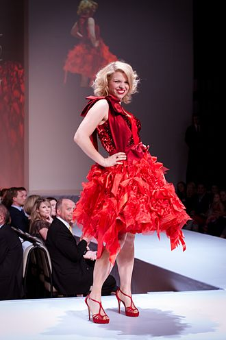 Ali Liebert - Liebert wearing Momo at 2012 The Heart Truth celebrity fashion show in Toronto