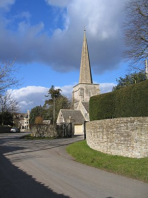 All Saints Church Kemble spire - geograph.org.uk - 132486.jpg