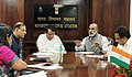 Alphons Kannanthanam in a high level meeting with the Union Minister for Commerce & Industry and Civil Aviation, Shri Suresh Prabhakar Prabhu and the Minister of State for Civil Aviation, Shri Jayant Sinha.JPG