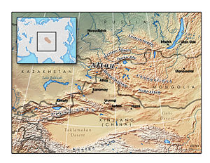 Map Of Asia Mountains And Rivers.Altai Mountains Wikipedia