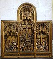 Altar retable with scenes from the Passion, Jan Borman the Younger, Brussels, c. 1520, oak, polychrome - Museum Schnütgen - Cologne, Germany - DSC00075.jpg