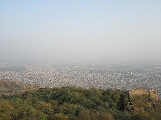 Alwar - Alwar city top view from Bala Quila