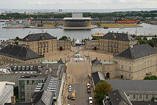 Amalienborg Palace and home of the Danish royal family