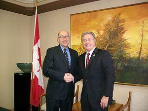 Danny Williams (politician) - Williams alongside Ambassador Jacobson