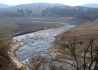 El Dorado County, California - Image: American river running through the El Dorado hills