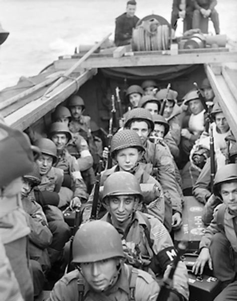 File:American troops on board a landing craft.jpg