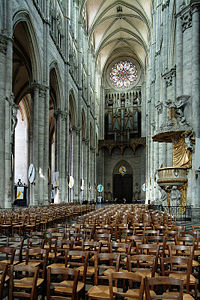 Amiens cathedral nave-west