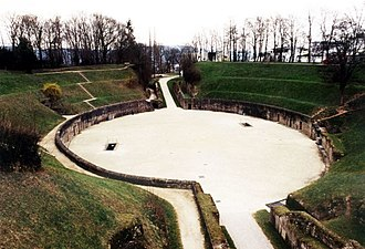 Ascaric - Amphitheatre at Trier in which Ascaric and Merogais were executed along with numerous Frankish soldiers.