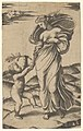 An allegory of Peace; Peace personified as a woman standing in a landscape holding the left hand of a winged genius MET DP854373.jpg