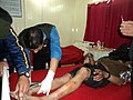 An injured man being treated in a Hospital, after an earthquake, in Gangtok on September 19, 2011.jpg