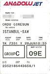 AnadoluJet - boardig pass TK7331 Ordu-Giresun - Istanbul 2016-06-28.jpg