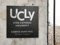 Ancienne prisons Saint-Paul et Saint-Joseph - plaque campus UCLY.JPG