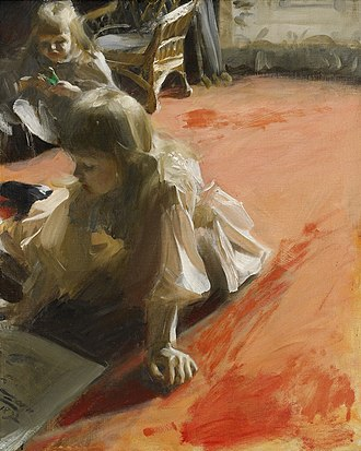 A Portrait of the Daughters of Ramón Subercaseaux - Image: Anders Zorn A Portrait of the Daughters of Ramon Subercasseaux