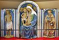Andrea della robbia, madonna col bambino tra i ss. sebastiano e antonio abate (collez. rita d'annunzio lombardi) 01.JPG