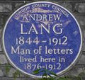Andrew Lang 1 Marloes Road blue plaque.jpg