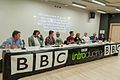 Andrew chairing a BBC Introducing Musicians' Masterclass. Panellists include The Pretenders, Dodgy and Mott The Hoople..jpg