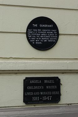 Photo of Angela Brazil black plaque