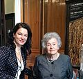 Angela Craciun, President of Fondation André Malraux with Irina Antonova, President of Pushkin Museum signing a convention for an exhibition under the patronage of UNESCO, dedicated to André Malraux, former French Minister of Culture.jpg