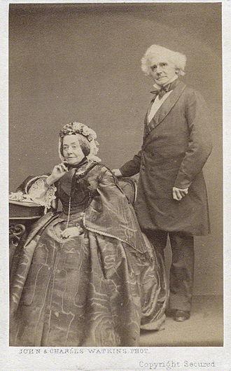 Anna Maria Hall -  Albumen carte de visite, late 1860s
