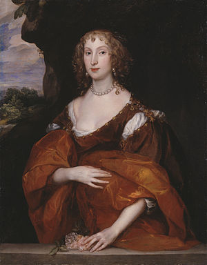 William Killigrew (1606–1695) - A 1638 painting of Killigrew's wife Mary Hill by Anthony van Dyck