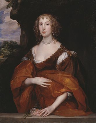 William Killigrew (1606–1695) - A 1638 painting of Killigrew's wife Mary Hill by Anthony van Dyck