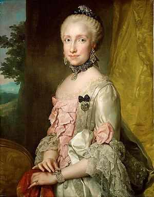Maria Luisa of Spain - Maria Luisa at the time of her marriage in 1764 (by Anton Raphael Mengs)