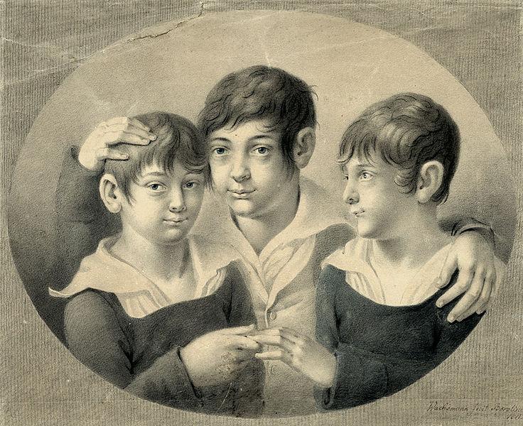 File:Anton Wachsmann Freundschaftsbildnis dreier Knaben Berlin 1811.jpg