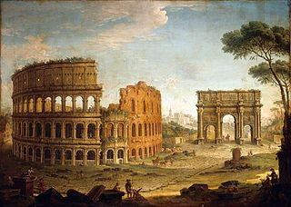 Rome: View of the Colosseum and The Arch of Constantine