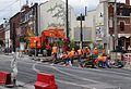 Anzin & Valenciennes - Travaux de raccordement des lignes A & B du tramway de Valenciennes à la Croix d'Anzin le 19 août 2013 (03).JPG